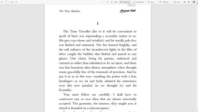 Baca PDF dan buku dalam tampilan layar penuh