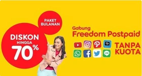 Paket Internet Freedom Postpaid (Pascabayar)