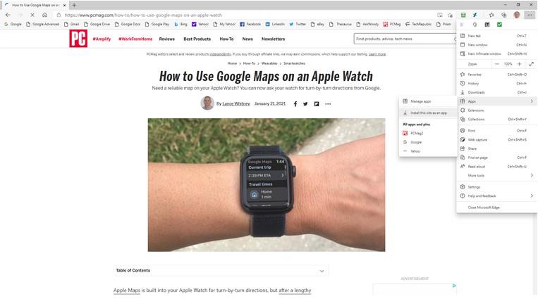 Ubah situs web menjadi aplikasi